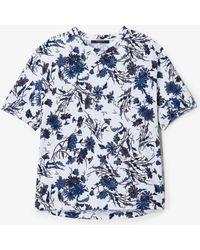 Derek Lam - Night Shade Floral Short Sleeve Tee - Lyst