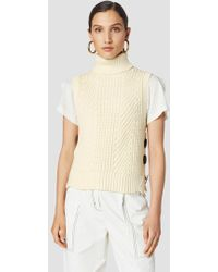 10 Crosby Derek Lam - Ribbed Cotton-blend Sleeveless Turtleneck Sweater - Lyst
