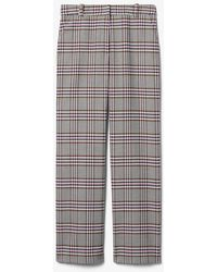 10 Crosby Derek Lam Plaid Twill Straight Leg Trouser - Gray