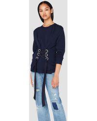 Derek Lam | Crewneck Sweatshirt With Lacing Detail | Lyst