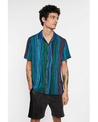 Desigual Camicia manica corta righe - Blu