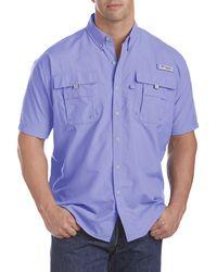 Columbia Big & Tall Pfg Bahama Ii Short-sleeve Sport Shirt - Purple
