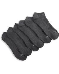 Reebok Big & Tall Vector 6-pk Low-cut Socks - Gray