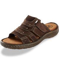 Propet Big & Tall Jace Slip-on Sandals - Brown