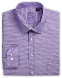 English Laundry Big & Tall Neat Dobby Dress Shirt - Purple