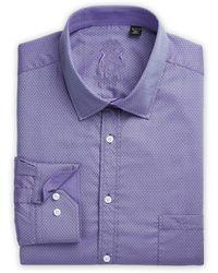 English Laundry Big & Tall Tonal Dot Dobby Dress Shirt - Blue