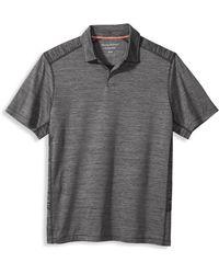 Tommy Bahama Big & Tall Delray Polo Shirt - Gray
