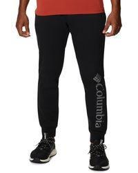 Columbia Big & Tall Csc Logo Fleece Sweatpants - Black
