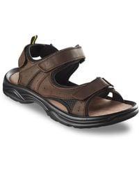 Propet Big & Tall Daytona Two-strap Sandals - Brown