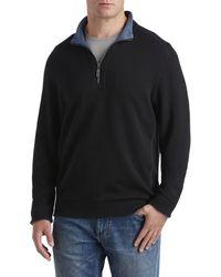 Tommy Bahama Big & Tall Flipshore Reversible 1 2-zip Pullover - Black