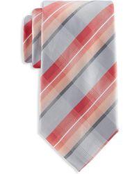 Geoffrey Beene Big & Tall Plaid Buzz Tie - Orange