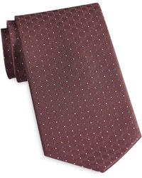 Geoffrey Beene Big & Tall Pin Dot Grid Tie - Red