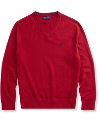 Nautica Big & Tall V-neck Sweater - Red