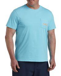 Vineyard Vines Big & Tall Beach Logo Pocket Tee - Blue