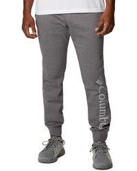 Columbia Big & Tall Csc Logo Fleece Sweatpants - Gray