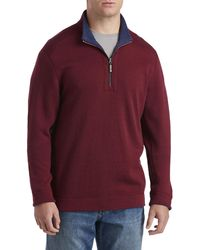 Tommy Bahama Big & Tall Flipshore Reversible 1 2-zip Pullover - Multicolor