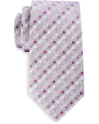 Geoffrey Beene Big & Tall Gemstone Geometric Tie - Multicolor