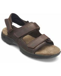 Dunham Big & Tall St. Johnsbury 3 Strap Sport Sandals - Brown