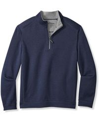 Tommy Bahama Big & Tall Flipshore Reversible 1 2-zip Pullover - Blue