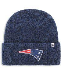 47 Brand Big & Tall ' Nfl Brain Freeze Knit Cuff Hat - Blue