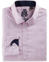 English Laundry Big & Tall Feather Print Dress Shirt - Pink