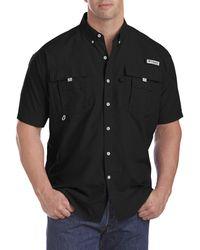 Columbia Big & Tall Pfg Bahama Ii Short-sleeve Sport Shirt - Black