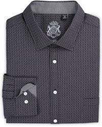 English Laundry Big & Tall Tonal Square Stretch Dress Shirt - Black