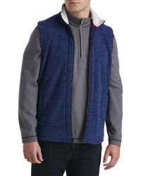 Tommy Bahama Big & Tall Pacific Point Full-zip Vest - Blue