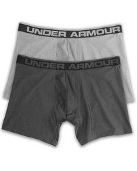Under Armour Big & Tall 6&quot 2-pk Boxerjock Boxer Briefs - Gray