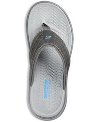 Skechers Big & Tall Relaxed Fit Sargo Point Vista Sandals - Gray