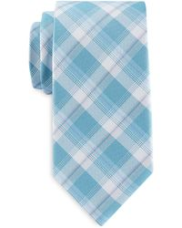 Geoffrey Beene Big & Tall Springtime Plaid Tie - Multicolor