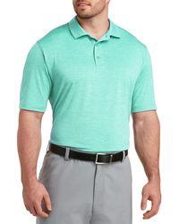 Reebok Big & Tall Speedwick Heather Polo Shirt - Blue
