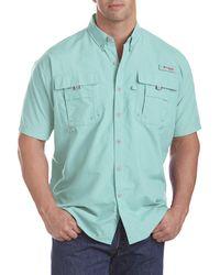 Columbia Big & Tall Pfg Bahama Ii Short-sleeve Sport Shirt - Green