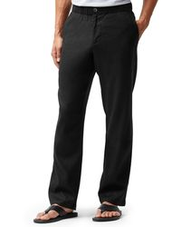Tommy Bahama Big & Tall Beach Linen Pull On Pants - Black