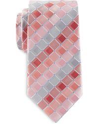 Geoffrey Beene Big & Tall On Demand Grid Tie - Red