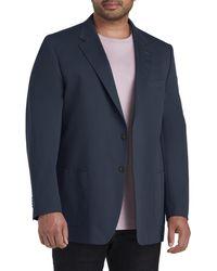 Robert Barakett Big & Tall Brushed Cotton Sport Coat - Blue
