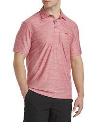 Tommy Bahama Big & Tall Coast Performance Polo Shirt - Pink
