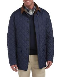 Brooks Brothers Big & Tall Quilted Field Coat - Blue