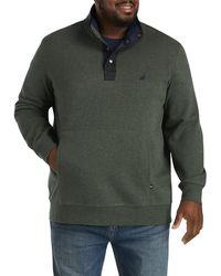 Nautica Big & Tall Mockneck Knit Pullover - Green