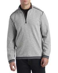 Tommy Bahama Big & Tall Switch It Up Reversible 1 2-zip Pullover - Gray