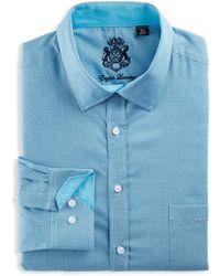 English Laundry Big & Tall Geo Dobby Dress Shirt - Blue