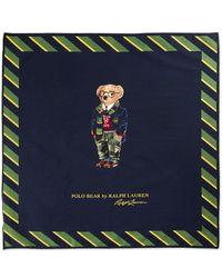 Polo Ralph Lauren Big & Tall Collegiate Polo Bear Face Covering Bandana - Blue