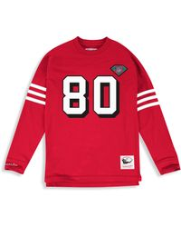 Mitchell & Ness Big & Tall Mitchell & Ness Nfl Player Pullover - Red