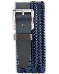 Robert Graham Big & Tall Stretch Belt - Blue