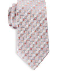 Geoffrey Beene Big & Tall Gemstone Geometric Tie - Pink