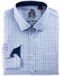 English Laundry Big & Tall Medium Check Dress Shirt - Blue