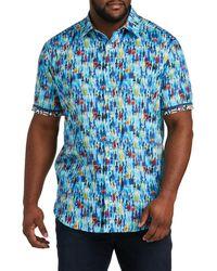 Robert Graham Big & Tall Dxl Bottle Service Sport Shirt - Blue