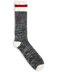 Polo Ralph Lauren Big & Tall Ribbed-knit Boot Socks - Multicolor
