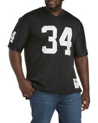 Mitchell & Ness Big & Tall Nfl Legacy Jersey - Black