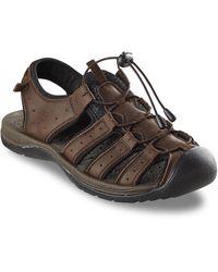 Propet Big & Tall Kona Fisherman Sandals - Brown